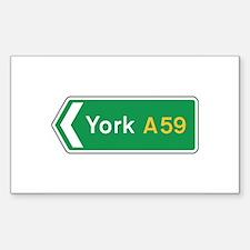 York Roadmarker, UK Rectangle Decal