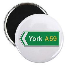 """York Roadmarker, UK 2.25"""" Magnet (10 pack)"""