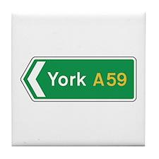 York Roadmarker, UK Tile Coaster
