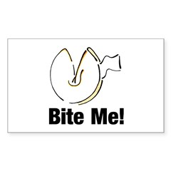 Bite Me Fortune Cookie Rectangle Decal