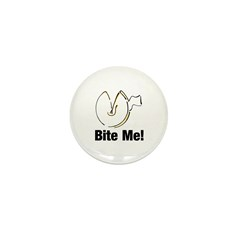 Bite Me Fortune Cookie Mini Button (10 pack)