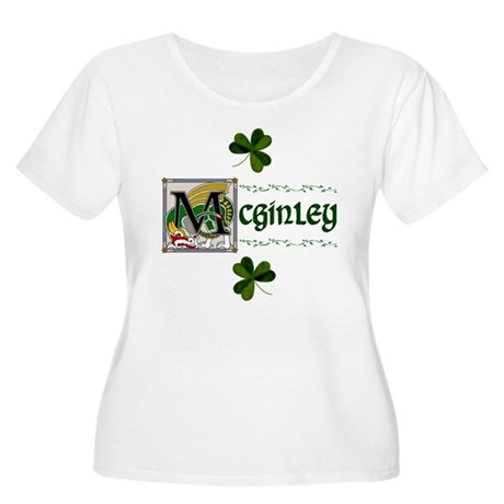 McGinley Celtic Dragon Women's Plus Size Scoop Nec