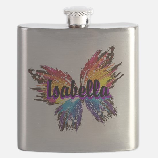 Personalize Butterfly Flask