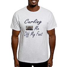 Curling Swept Me Off My Feet T-Shirt