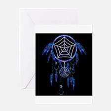 Glowing Dreamcatcher Greeting Cards