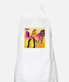 H for Hen BBQ Apron