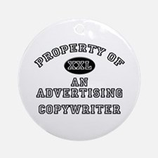 Property of an Advertising Copywriter Ornament (Ro