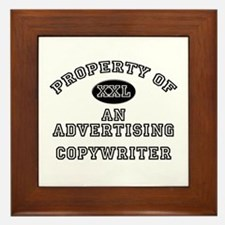 Property of an Advertising Copywriter Framed Tile