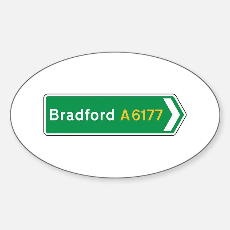 Bradford Roadmarker, UK Oval Decal