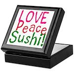 Love Peace Sushi Keepsake Box