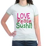 Love Peace Sushi Jr. Ringer T-Shirt