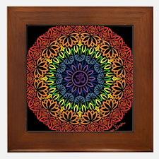 Namaste Mandala Framed Tile