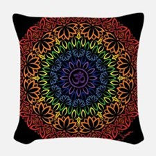 Namaste Mandala Woven Throw Pillow