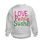 Love Peace Sushi Kids Sweatshirt
