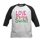 Love Peace Sushi Kids Baseball Jersey