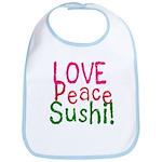 Love Peace Sushi Bib