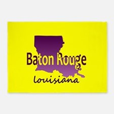 LOUISIANA BATON ROUGE 225 Area Code 5'x7'Area Rug