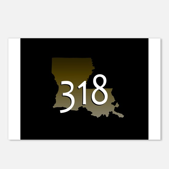 LOUISIANA 318 Area Code Postcards (Package of 8)