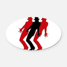 Unique Jazz dancing Oval Car Magnet