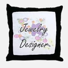 Jewelry Designer Artistic Job Design Throw Pillow