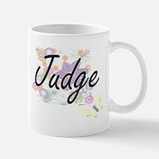 Judge Artistic Job Design with Flowers Mugs