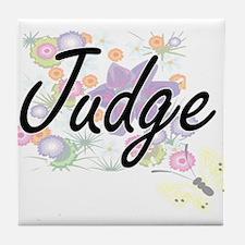 Judge Artistic Job Design with Flower Tile Coaster