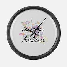 Landscape Architect Artistic Job Large Wall Clock