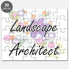 Landscape Architect Artistic Job Design wit Puzzle