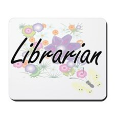 Librarian Artistic Job Design with Flowe Mousepad