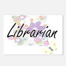 Librarian Artistic Job De Postcards (Package of 8)