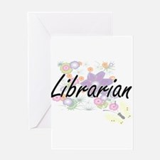 Librarian Artistic Job Design with Greeting Cards