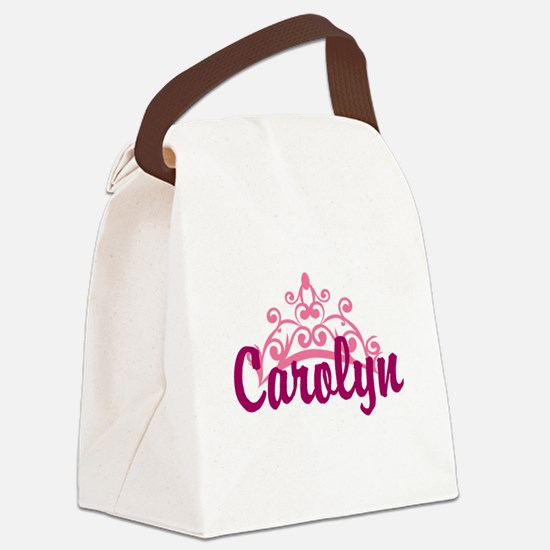 Princess Crown Personalize Canvas Lunch Bag