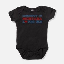 Retro solopress state town usa someone heart Baby Bodysuit