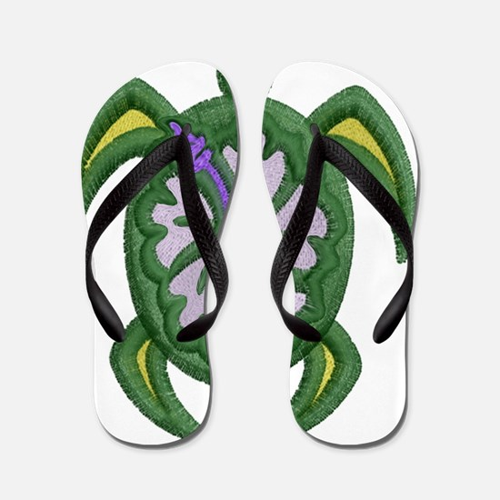 Cute Hawaii turtles Flip Flops