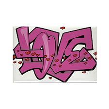 Love graffiti Magnets