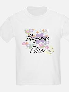 Magazine Editor Artistic Job Design with F T-Shirt