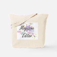 Magazine Editor Artistic Job Design with Tote Bag