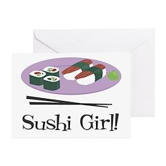 Sushi Girl! Greeting Card