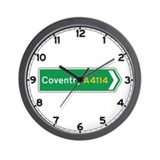 Coventry Roadmarker, UK Wall Clock