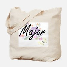 Major Artistic Job Design with Flowers Tote Bag