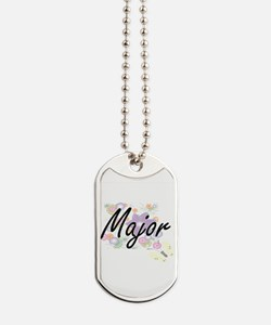 Major Artistic Job Design with Flowers Dog Tags