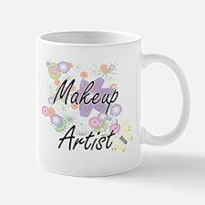 Makeup Artist Artistic Job Design with Flower Mugs