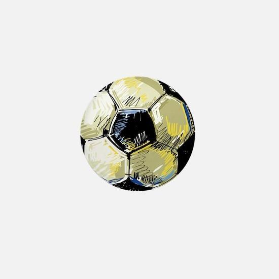Hand Drawn Football Mini Button