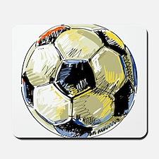 Hand Drawn Football Mousepad