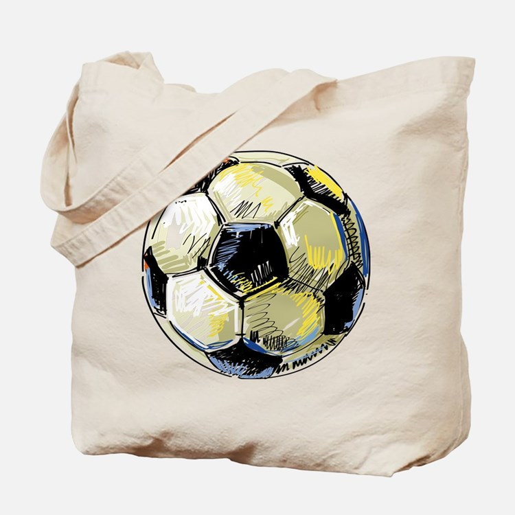 Hand Drawn Football Tote Bag