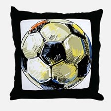 Hand Drawn Football Throw Pillow