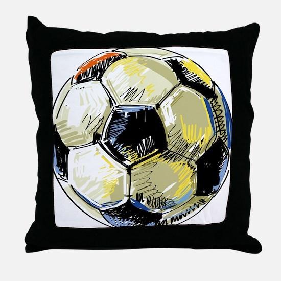 Hand Drawn Football Throw Pillow