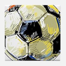 Hand Drawn Football Tile Coaster