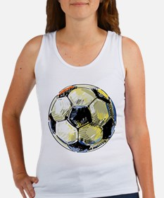 Hand Drawn Football Tank Top