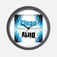 Funny Dirty clean dishwasher Wall Clock
